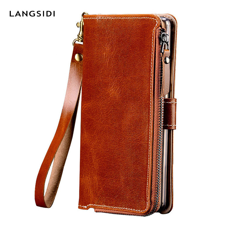 Genuine Leather Case For Huawei p30 lite P10 p20 mate 20 P40 pro Wallet Stand Holder Phone Bag for Honor 20i 10 20 Pro 8X luxury
