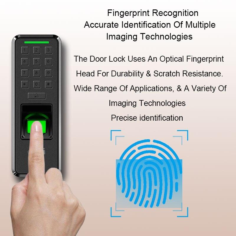 Biométrique d'empreintes digitales dispositif de contrôle d'accès USB porte serrure employé horloge entrée sortie enregistreur numérique Machine sûre maison