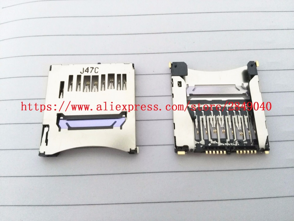 100%new Sd Memory Card Slot Holder For Canon For Eos 70d 100d 1200d Slr Digital Camera Repair Part Goods Of Every Description Are Available