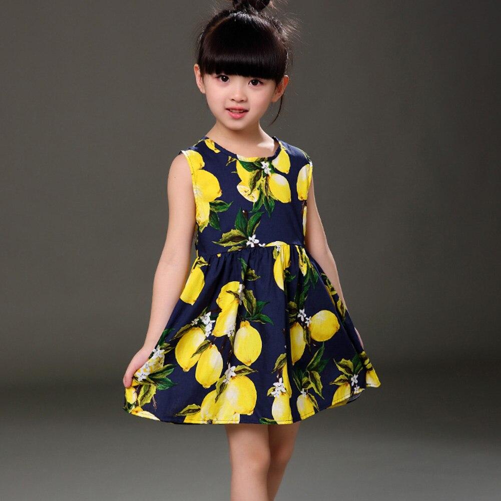 Детские платья с лимонами