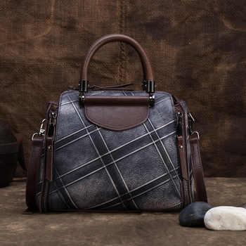 High Quality Genuine Embossed Leather Women Messenger Shoulder Bag Cross Body Tote Handbag Vintage Female Top Handle Bags - DISCOUNT ITEM  30% OFF All Category
