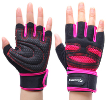 KHUITEN Women girls S size Fitness durable Sports Gym half finger Weight Lifting Gloves mitts free shipping