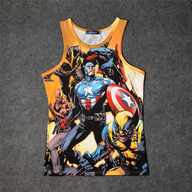 1e30ef3bef765e Hot Captain America Superhero Spiderman 3D Print Tank Tops Kids Men Women  Undershirt teen Cotton Tee Loose Marvel