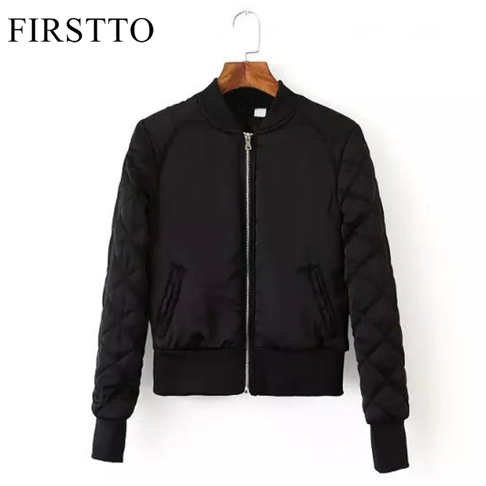 Trendy Women's Newest V-Neck Quilting Quilted Jacket Short Thin Padded  Bomber Jacket Coat Pilots - Compare Prices On Womens Quilted Padded Bomber Jacket Black