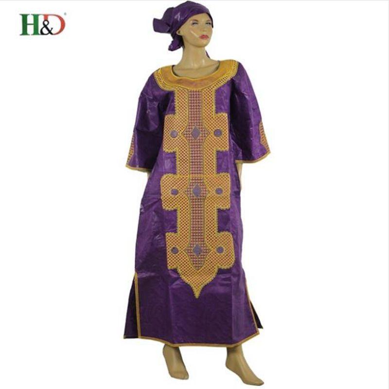 Ücretsiz kargo Afrika geleneksel bazin riche kadın pamuk işlemeli - Ulusal Kıyafetler - Fotoğraf 5