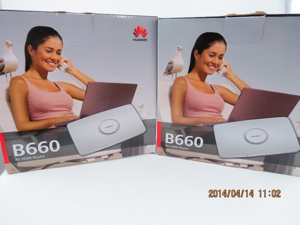 Galleria fotografica <font><b>Huawei</b></font> b660 hadps wireless 3g router wifi con 3g modem 7.2 mbps hspa wcdma sim slot interfaccia inglese + spina di ue
