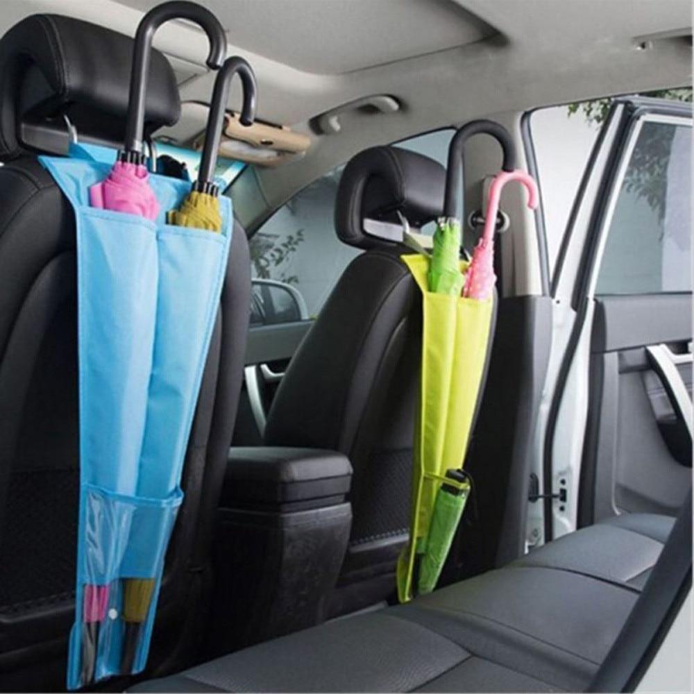 Сиденья автомобиля зонтик чехол для хранения Складная вешалка держатель сумка анти грязи