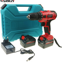 21v Power Tools Electric Drill Electric Cordless Drill 2 Batteries Plastic Box Screwdriver Mini Drill Electric