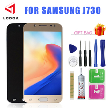 Adjustable Brightness J7 2017 LCD For Samsung Galaxy J7 Pro J730 J730F LCD Display Touch Screen Replacement Digitizer Assembly j7 pro lcd screen replacement for samsung galaxy j7 2017 touch screen j730 j730f lcd display digitizer assembly with adhesive to