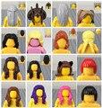 10 unids/lote minifig femenina sombreros accesorio del pelo de diy moc legokind building blocks juguetes figuras de parte compatible legolike