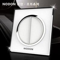 Norden toma de interruptor inteligente interruptor de la cortina de casa inteligente interruptor del panel 2 gang 2way