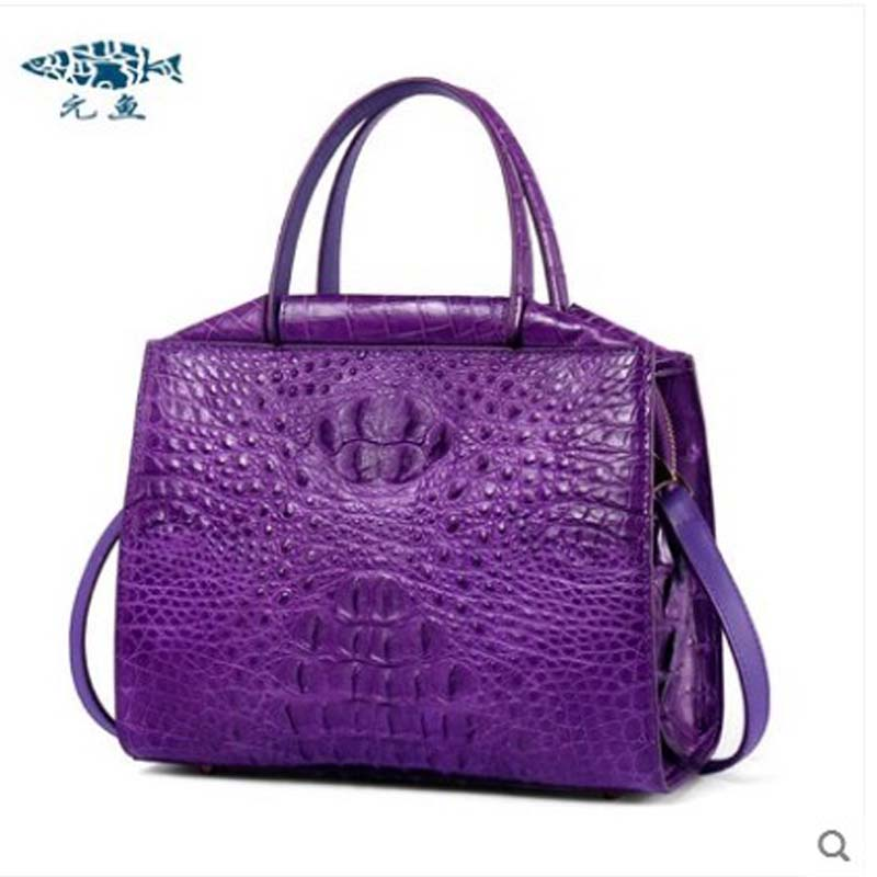 yuanyu The new crocodile skin female bag imported crocodile leather single shoulder bag genuine handbag alligator women handbag yuanyu the new crocodile skin female bag imported crocodile leather single shoulder bag genuine handbag alligator women handbag