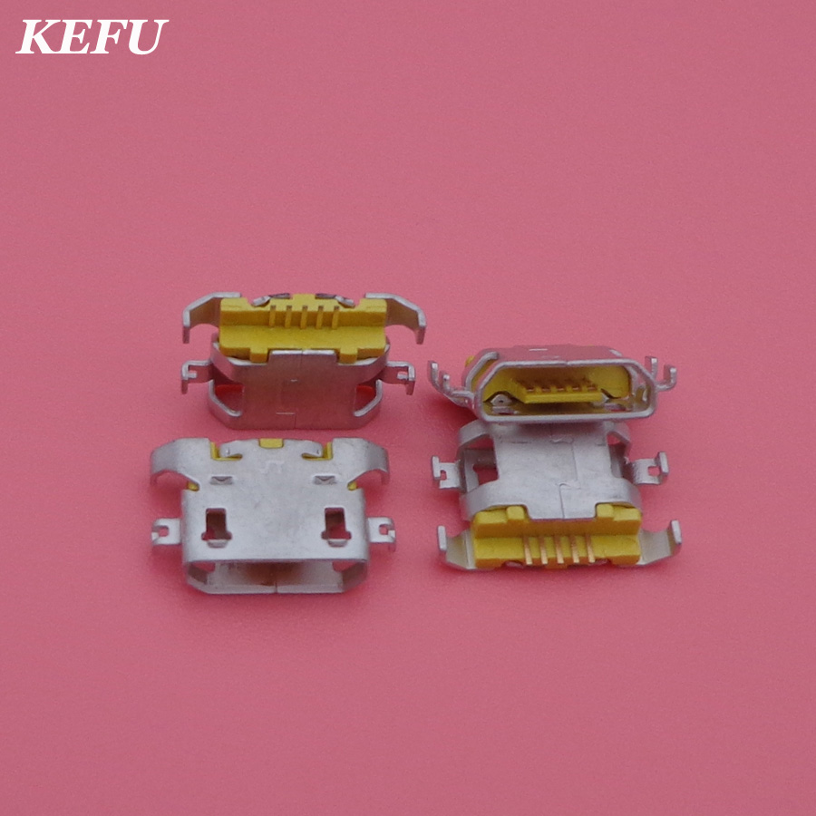 50pcs New micro USB connector charging port Replacement Parts for Lenovo A670 S650 S720 S820 S658T A830 A850 S939