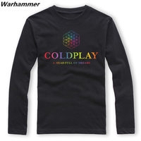 COLDPLAY ROCK BAND LONG SLEEVE MENS T SHIRT A Head Full Of Dreams shirts music mens must have shirt Oneck hiphop fine cotton top