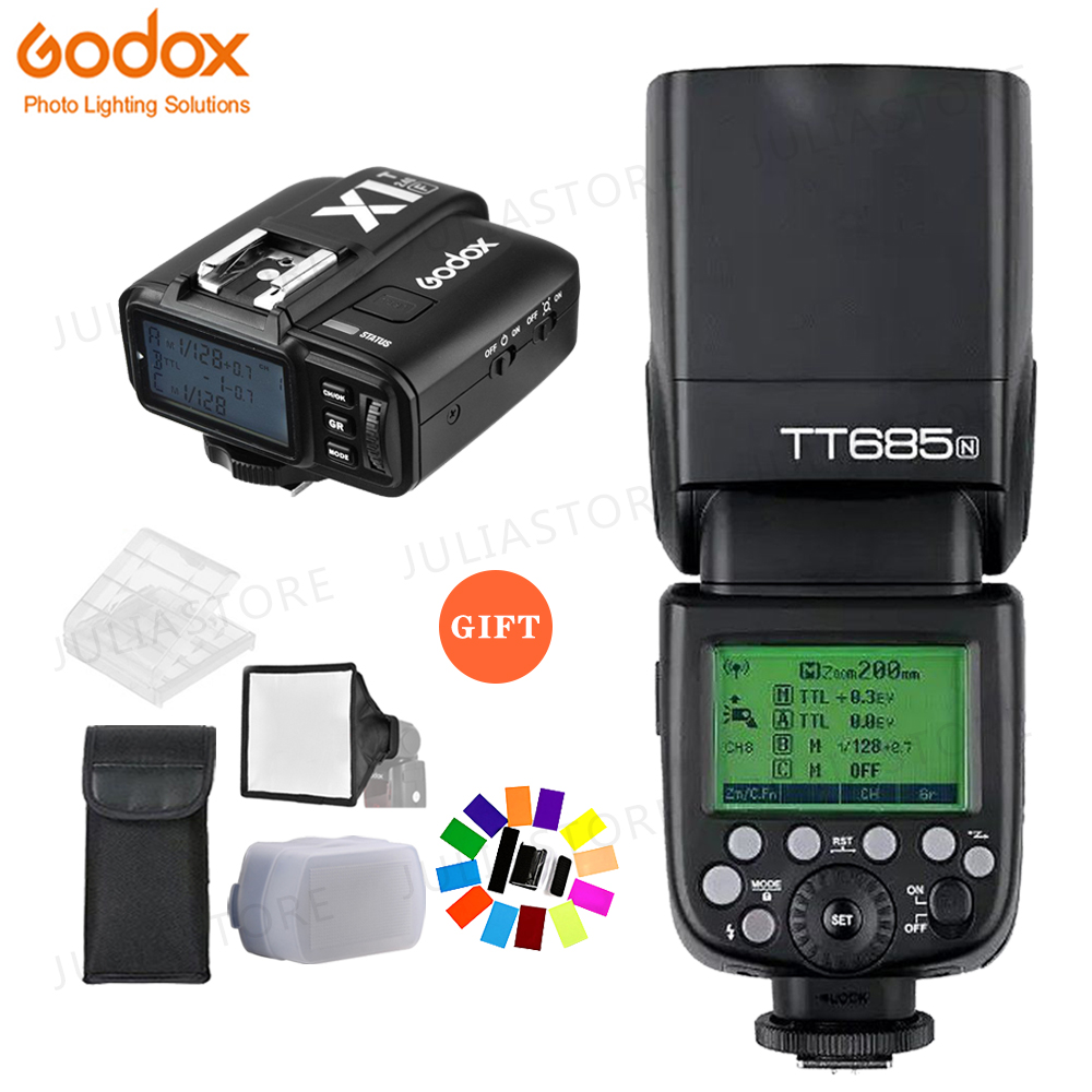 Godox TT685N 2 4G HSS i TTL GN60 Wireless Flash X1T N TTL Trigger for Nikon