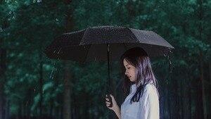 Image 4 - (から船 ru) オリジナル新 xiaomi mijia 傘自動サニー雨アルミ防風防水 uv 男性女性夏冬