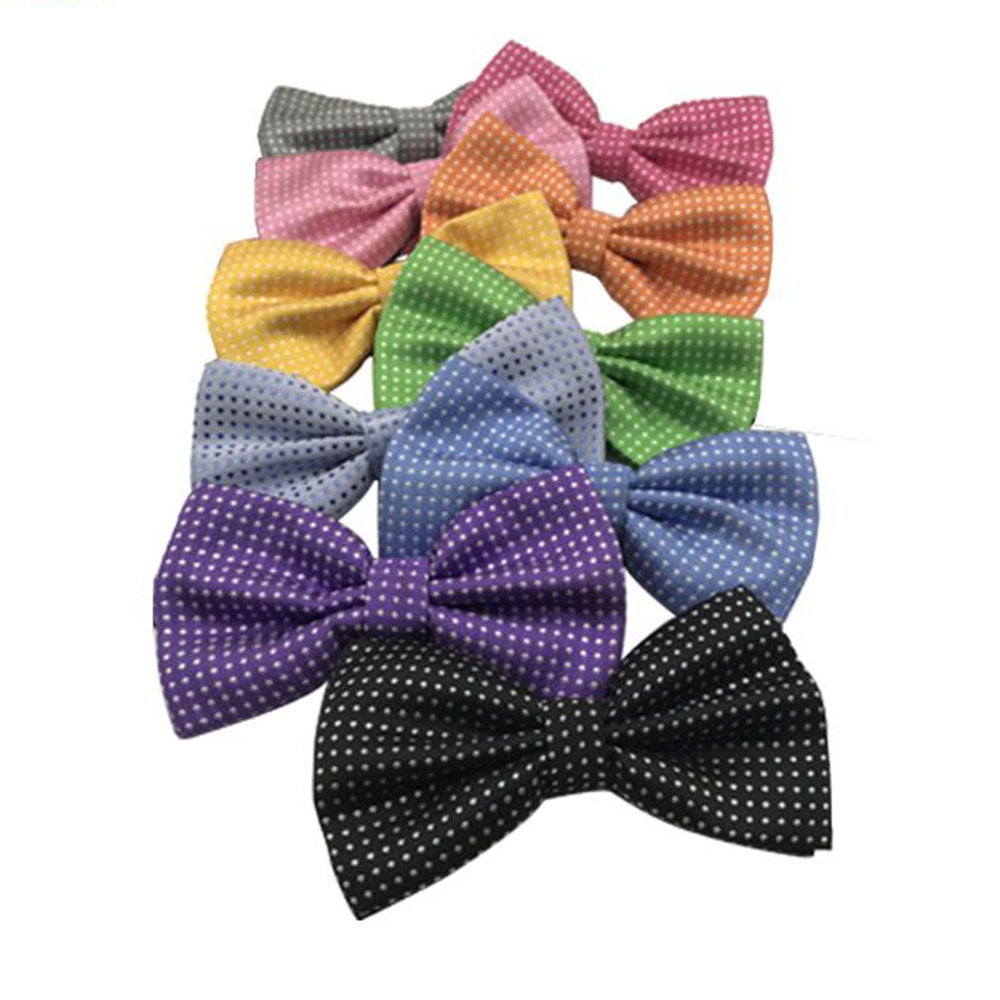 PolkaDot Bow Tie Men Bowtie Black White Dots Mens Accessories Fashion Bow Ties