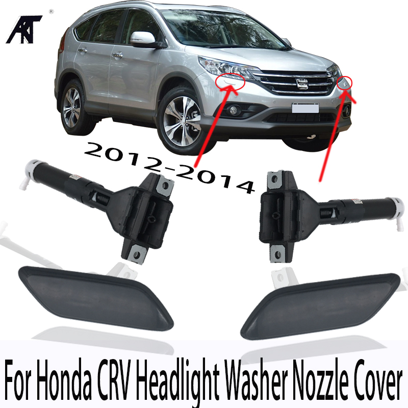 High quality Front Headlight <font><b>headlamp</b></font> <font><b>Washer</b></font> Nozzle or <font><b>Cover</b></font> Spray Jet cap Housing House For Honda CRV CR-V 2012-2014 RM1 RM4 image