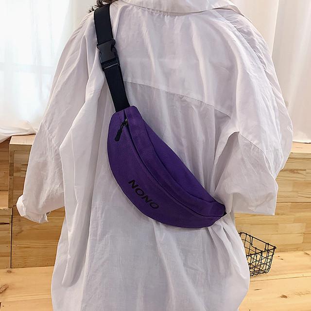 Colorful Waist bag Women Joker Crossbody Fashion Chest Pocket Pocket Shoulder Bag  Sport Runner bags for women