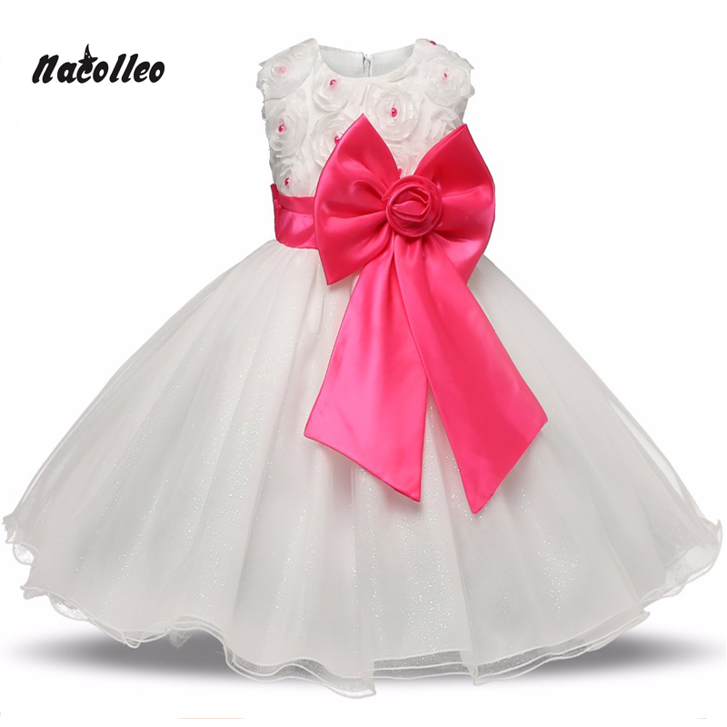 High quality Lace Girl Dresses Children Dress Party Summer Princess Baby Girl Wedding Dress Birthday Big Bow Pink For 100-160 new high quality fashion excellent girl party dress with big lace bow color purple princess dresses for wedding and birthday