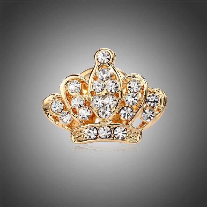 Высота: HYDE Мода Хрустальная корона Форма Jewelry бижутерия, Броши женская брошь подарки мини броши костюм кнопку воротник рубашки pin