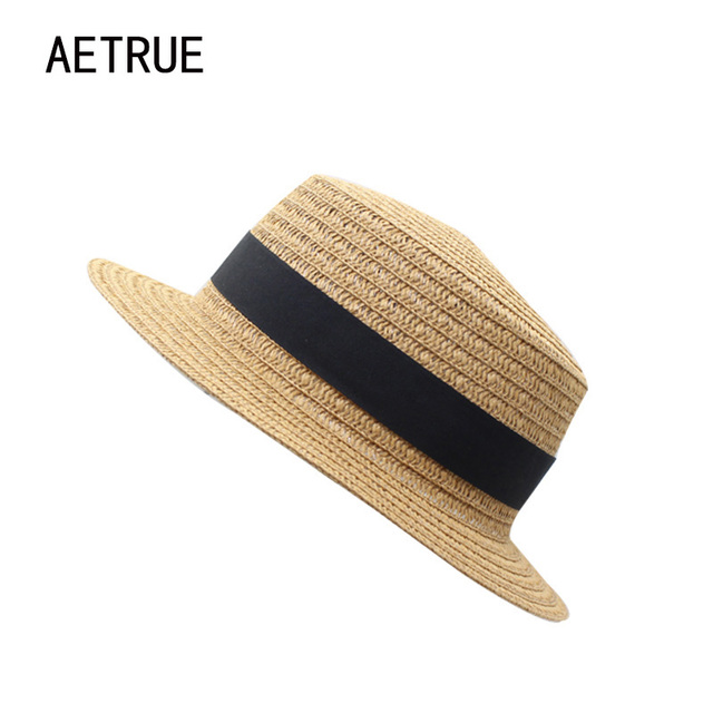 dd59d94ba9d AETRUE Sun Hats For Men Women Floppy Straw Summer Hats Brand Beach Lady  Beach Panama Girl