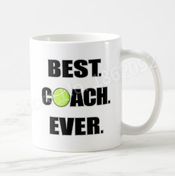 Divertido Tenis regalos Tenis mejor entrenador nunca taza
