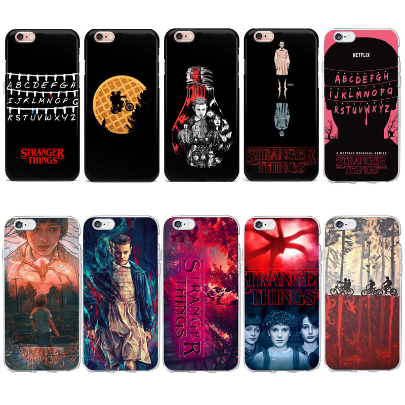 U S Drama Tv Stranger Things Abc Logo Wallpaper Phone Case For Iphone 6s 7 8 Plus 4s 5 5s Se X Soft Tpu Cover For Iphone 7 Case