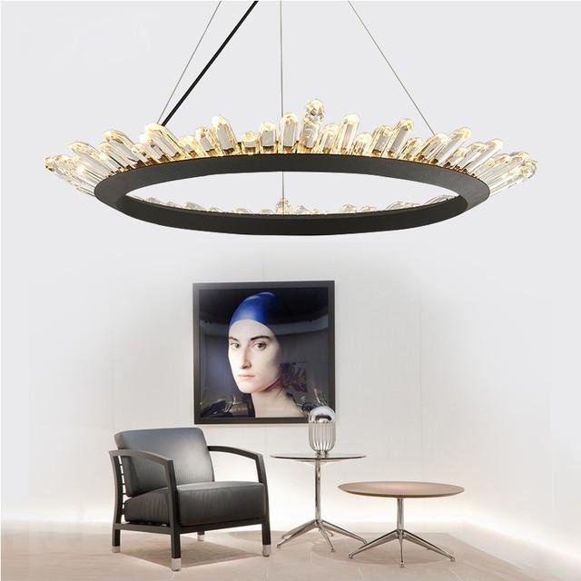 modern Acrylic Crystal Chandelier lighting led black contemporary chandeliers lamp for dining room bedroom AC 110V-260V