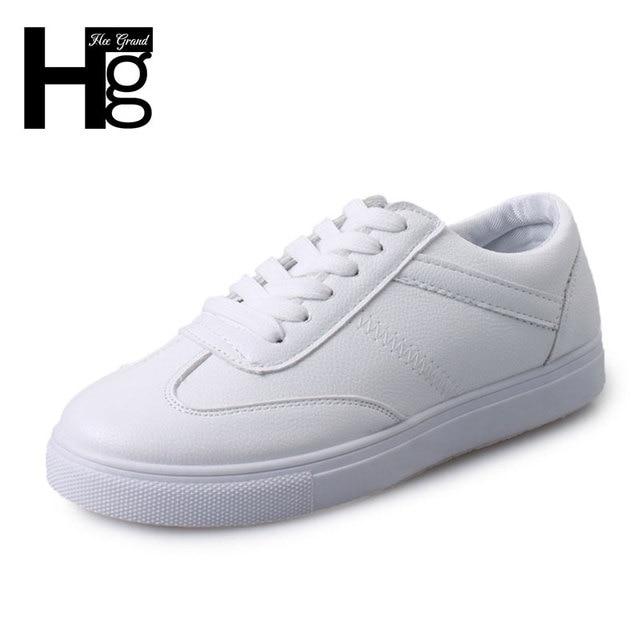 ХИ GRAND Горячей Продажи женских Клинья Обувь 2017 Мода PU Кожа Высота Увеличение Повседневная Обувь Размер 35-39 XWC1078