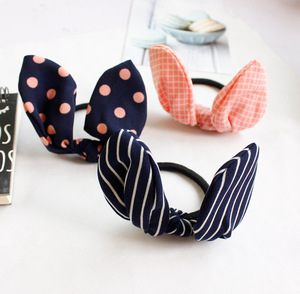 Begrenzte Neue Dot Headwear Kaninchen Ohren Tupfen Elastische Haar Bands Gummi Zubehör Pins Stirnband Schnelle Brötchen Gum Für