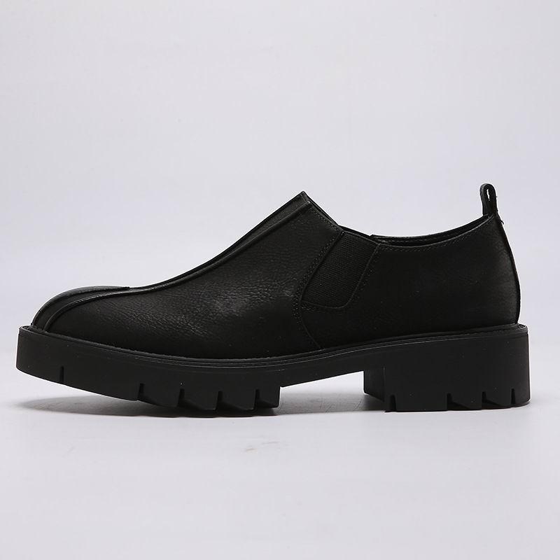 Taille 43 Habillées Bas En Rond Concise Homme Bout Épais Plate Chaussures Noir forme Tendance Loisirs Cuir Pu Hommes Mode De 38 trxBCQdsho