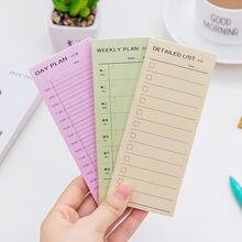 1 Pc Plan dnia Plan tygodniowy Plan miesięczny szczegółowa lista notatnik notatnik zeszyt codzienne notatki planer dziennik materiały biurowe