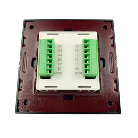 1 2 3 4 gang wall reset switch 86 module with led brushed for kc868 smart home control system