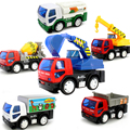 6 Styles Inertia Car Toy Diecast Mini Construction Vehicle Engineering Car Dump Truck Model Children Classic Tractor Crane Toys