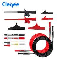 Cleqee P1600B 10-in-1 Electronic Specialties Test Lead kit Automotive Test Probe Kit Multimeter probe leads kit Banana plug