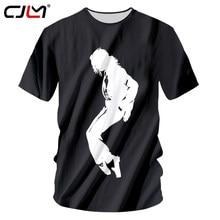 CJLM Men Tshirt Black 2018 Summer Tops Funny Print Michael Jackson Moonwalk  3d T Shirt Man Casual Hiphop Tee Shirts Unisex Tops 2a9b61cc3e36