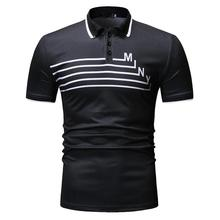 Plus Size Polo Shirt Men Fitness clothing Summer Tops Tees Streetwear Short sleeve Men Polo Shirt Casual Navy Black New Arrival original new arrival 2018 adidas climachill polo men s polo exercise shirt short sleeve sportswear