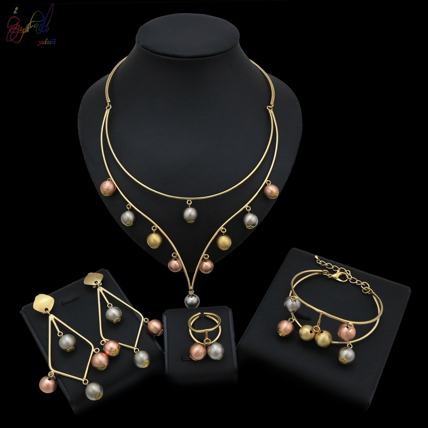 Yulaili High-end Design Jewelry Europe and the America Jewelry Fashion Necklace Bracelet Earrings Ring SetYulaili High-end Design Jewelry Europe and the America Jewelry Fashion Necklace Bracelet Earrings Ring Set