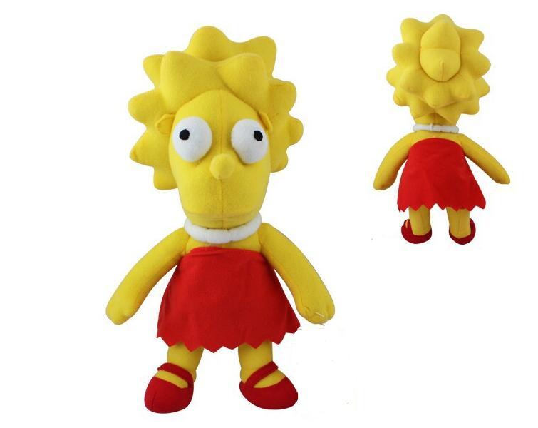 Juguetes de peluche de Lisa De Los Simpsons para muñecas de Niños de 34 CM de una pieza