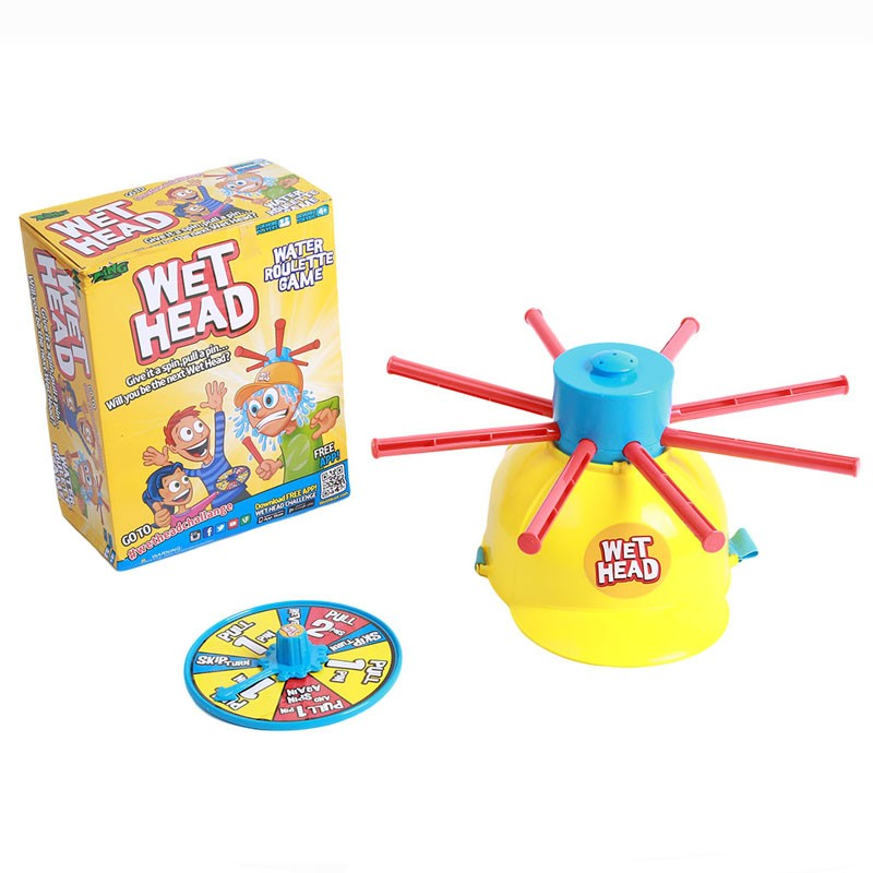 2019 Wet Head Hat Wet Funny Challenge Head Toys Water Roulette Game Kid Toys Great Game Gags Practical Jokes