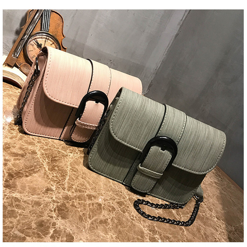 women's Handbags Cloth Belt Pliers Chain Shoulder Bag Mini Flip Single Shoulder Messenger Bag Ladies Chain Bag