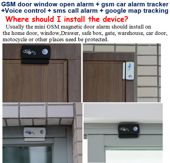 Gsm Alarm Detector Fuctions Car Tacker A8 +Door Window Open Mini A9 ...