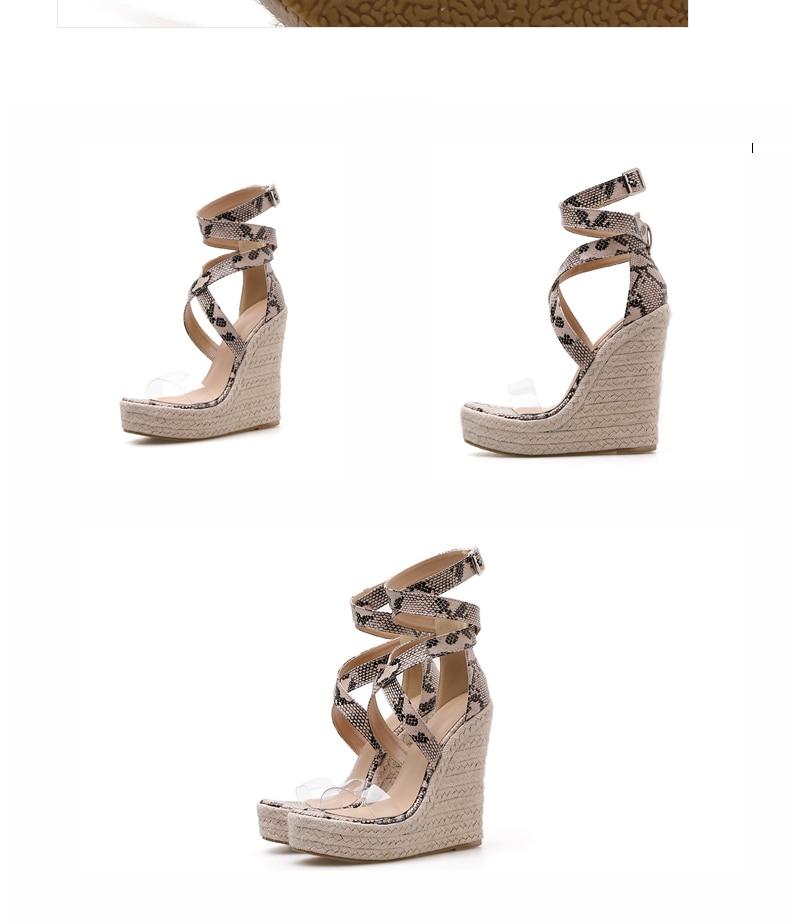 HTB19.2aP4TpK1RjSZFKq6y2wXXaz Eilyken Summer Women Platform Sandals Gladiator Fashion High heels Wedges Espadrilles shoes Ladies Open toe Sandals Serpentine