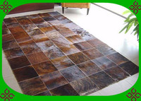 free shipping via DHL 100% natural genuine cow leather handmade turkish silk carpets
