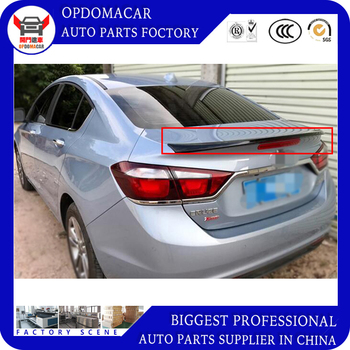 ABS primer black white red ect color car rear lip spoiler without light for Cruze 2015 2016