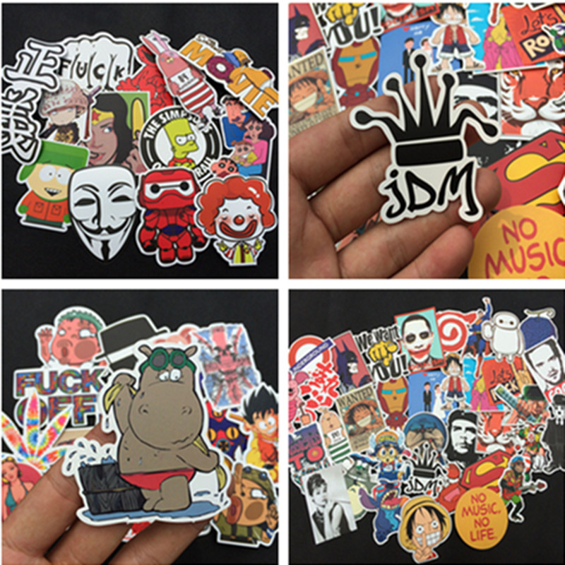New 350 PCS Cute Animal Sticker Luggage Skateboard Doodle Vinyl Decals Car Styling Laptop Bike Toy