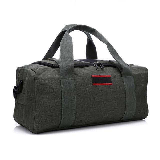 Online Shop Women and Men Canvas Handbag Sports Travel Duffle Bag ...