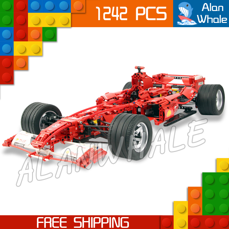 1242pcs 3335 Technic F1 Racer 1:8 Model Building Blocks minicar diecast cars automobile Boys Toys Compatible with Lego 8 in 1 military ship building blocks toys for boys