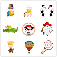 1 PC Kawaii Animals Badges for Clothes Acrylic Badges Cartoon Icons for Backpack Pin Badge on Clothes